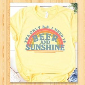 Sunshine Retro Tee Beer Fun Concert Funny Western